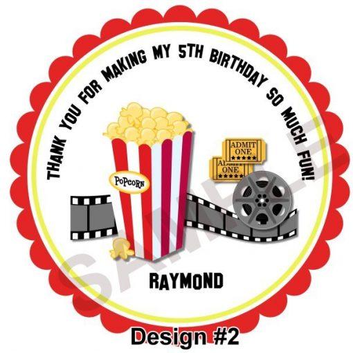 Movie Night Personalized Stickers