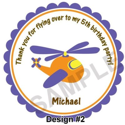 Airplanes Personalized Stickers