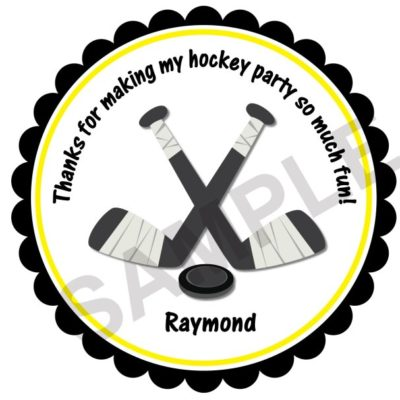 Hockey Party Personalized Stickers