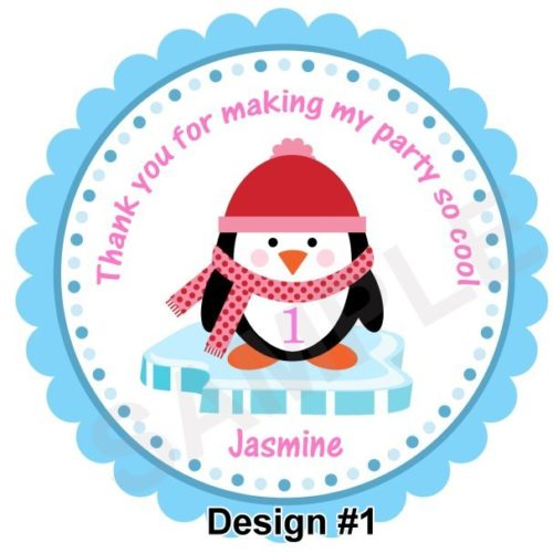 Cutie Penguin Personalized Stickers