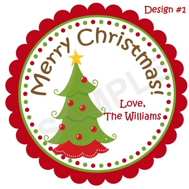 Christmas Tree Personalized Stickers