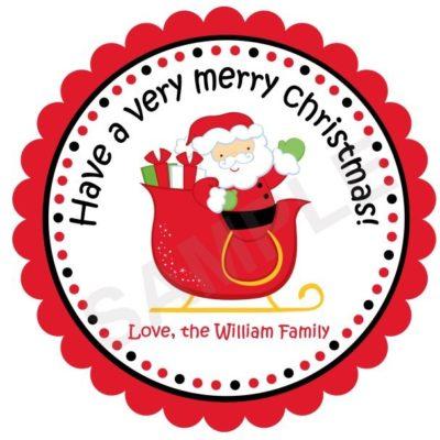 Santa Personalized Stickers