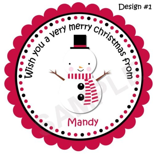 Snowman Personalized Stickers