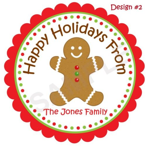 Gingerbread Cookie Personalized Stickers
