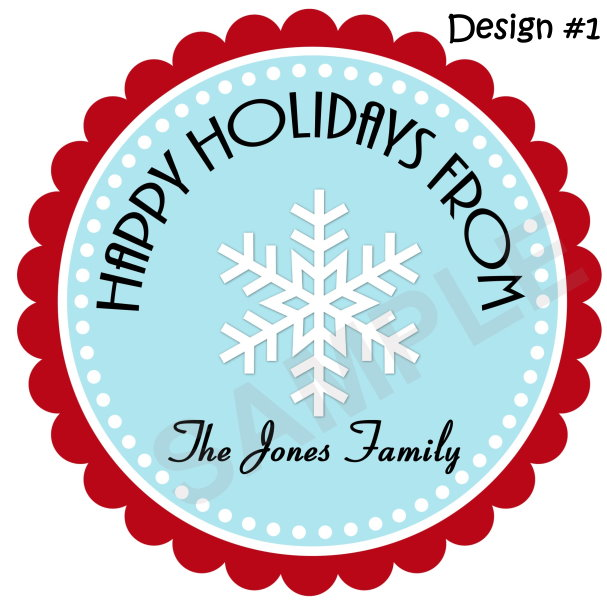 Holiday Snowflake Personalized Stickers