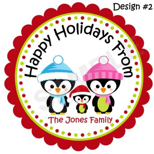 Cute Penguin Personalized Stickers