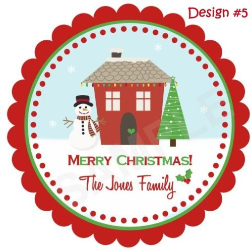 Christmas House Personalized Stickers