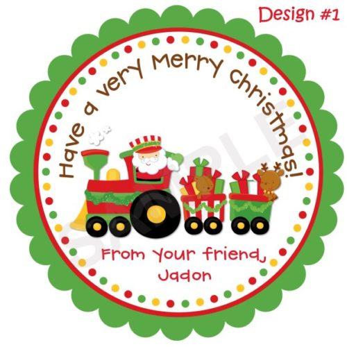 Choo Choo Train Personalized Stickers