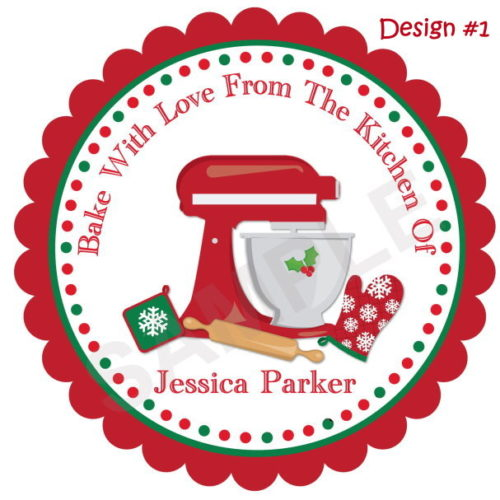 Baking Personalized Stickers