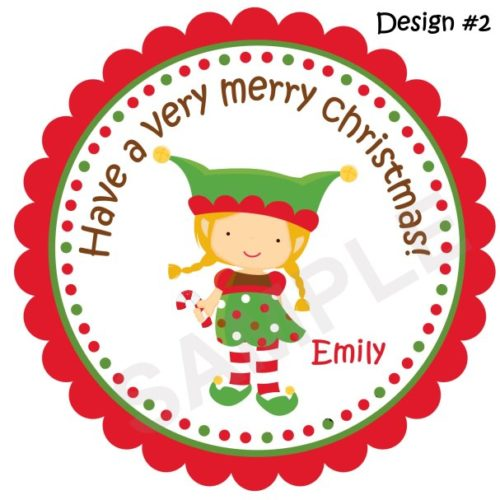 Elves Personalized Stickers
