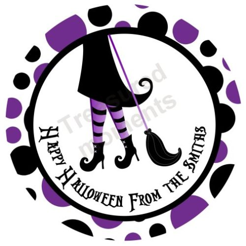 Halloween Witch Feet Personalized Stickers