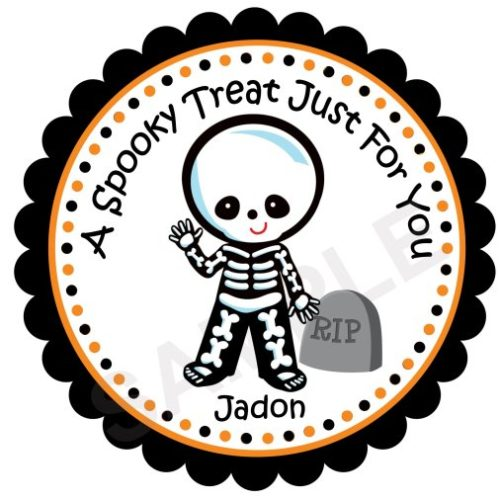 Skeleton Personalized Stickers