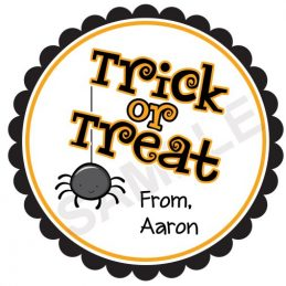 Trick or Treat Personalized Stickers