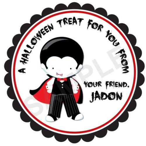 Dracula Personalized Stickers