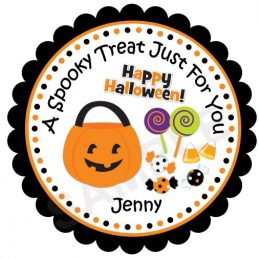 Halloween Treats Personalized Stickers
