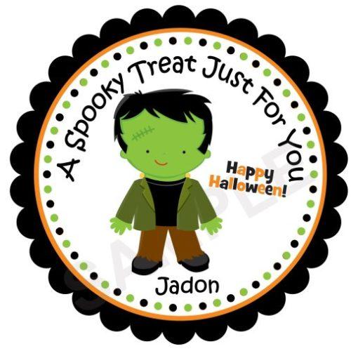 Frankenstein Personalized Stickers