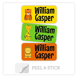 Theme Peel & Stick Clothing Labels